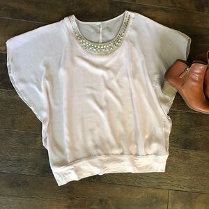 Maurice's Ruffle Sheer Blouse Plus Size 0